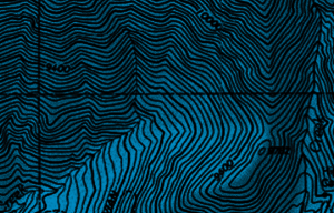 topographic map section